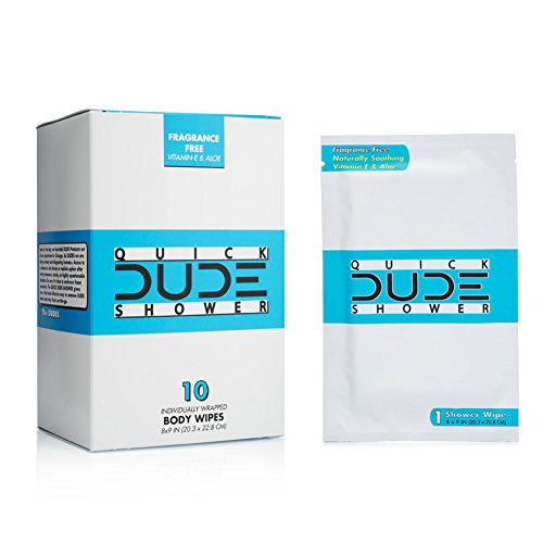 135d397128db DUDE Shower Body Wipes, Wet Wipes Individually Wrapped for Travel ...